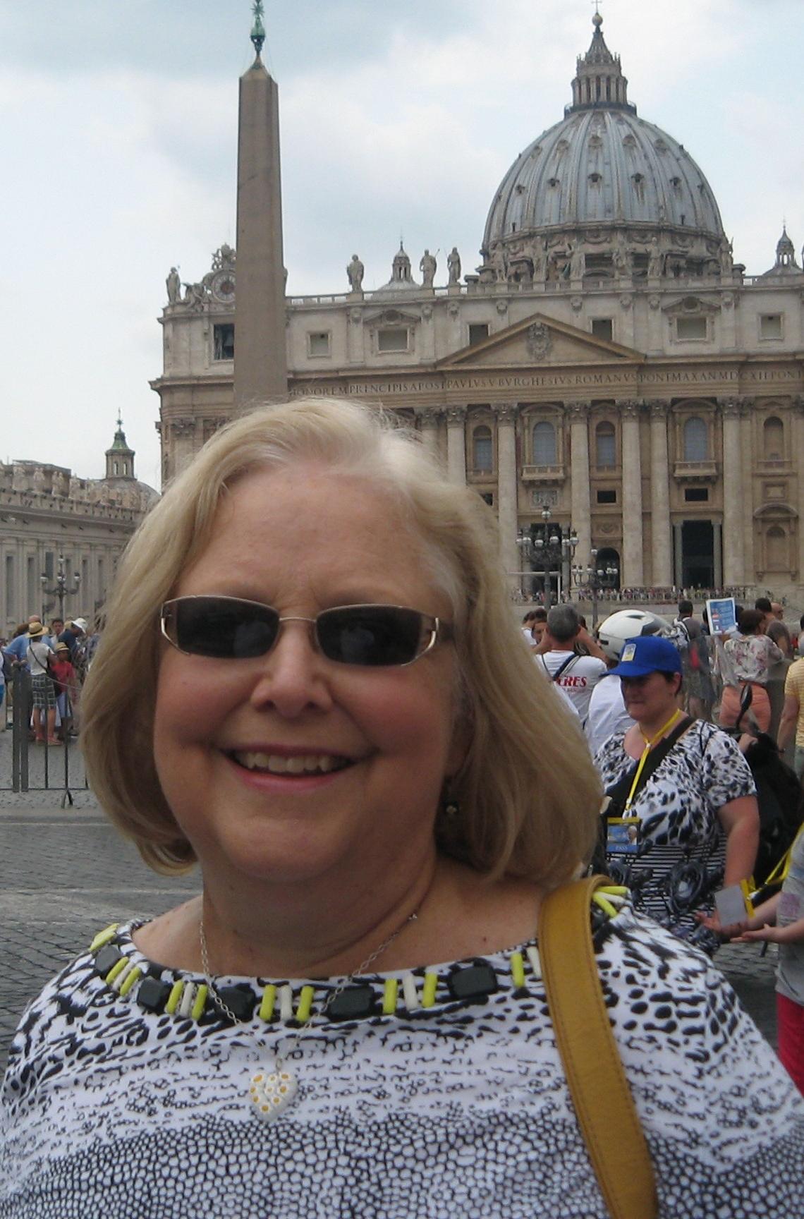 Teri Aitchison at Saint Peter's Square, Rome.