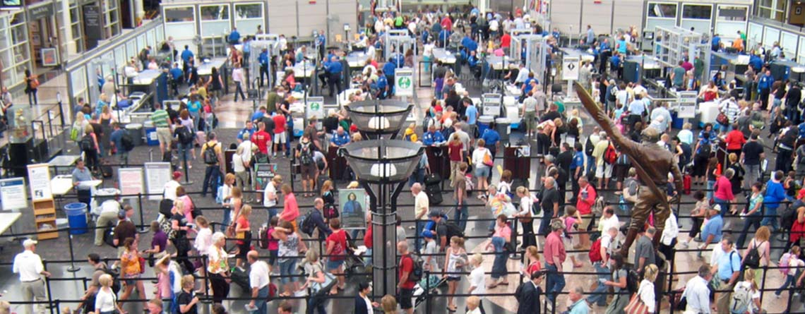 Marching Band Airport Security with Music Travel Consultants