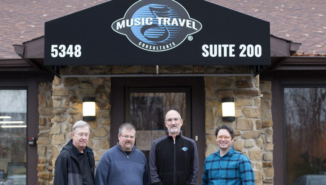 The Music Travel Consultants Leaders: Rick Campbell, Mark Harting, Jef Furr and Ryan Morris.