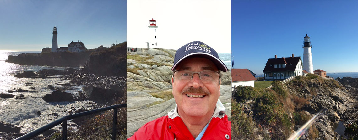 One of John Hilmer's favorite hobbies is visiting lighthouses throughout the world.