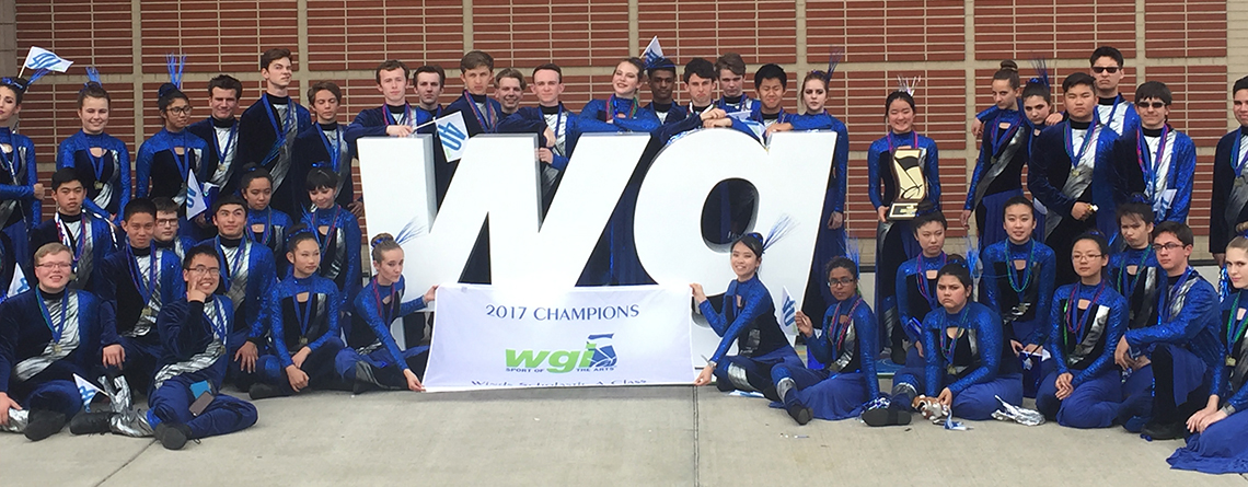 Music Travel Consultants Tour Director John Hilmer escorting The Valley Christian to the WGI Winds World Championships.