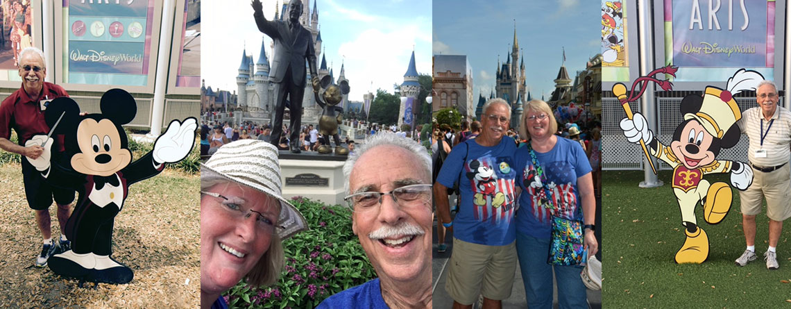 Marty Becker and his wife, Judy Becker, enjoying time at the most magical place in the world.