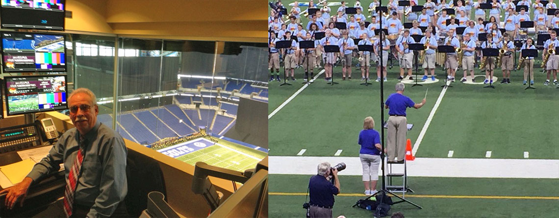 Marty at Lucas Oil Stadium and Directing during a performance.