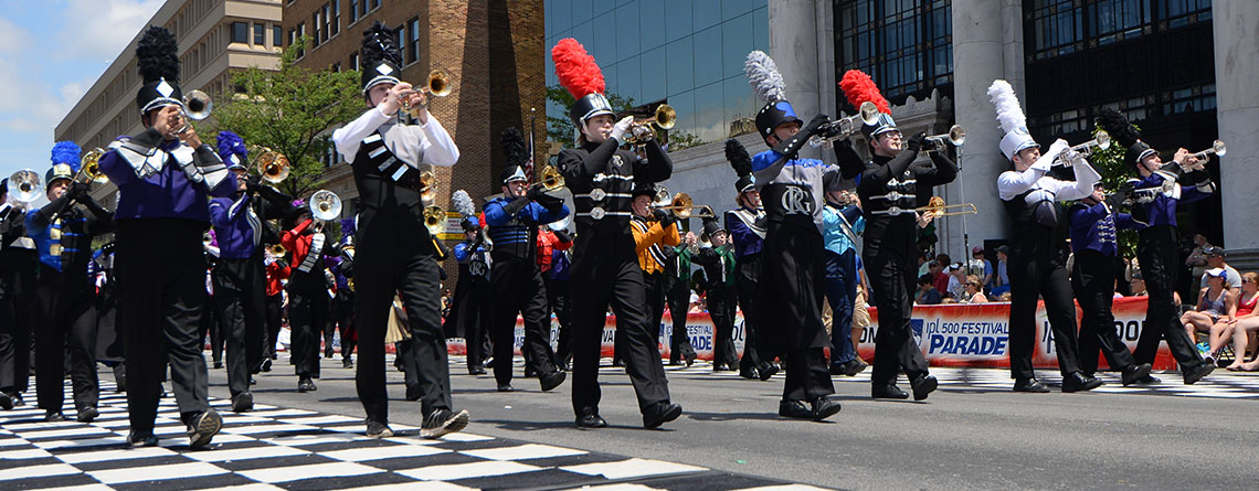 Indianapolis 500 Festival Parade and Race Marching Band Trips