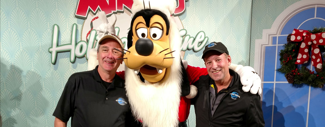 Tom Young on a recent trip to Disney, hanging with his 2 best friends, Jeff Buchanan and Goofy.