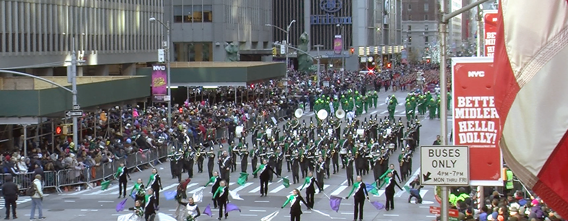 Macy's Thanskgiving Day Parade Band Travel