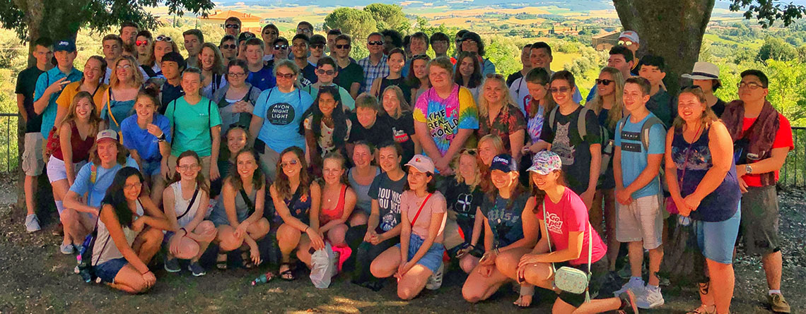 Avon Orchestra enjoying a great day in Tuscany.