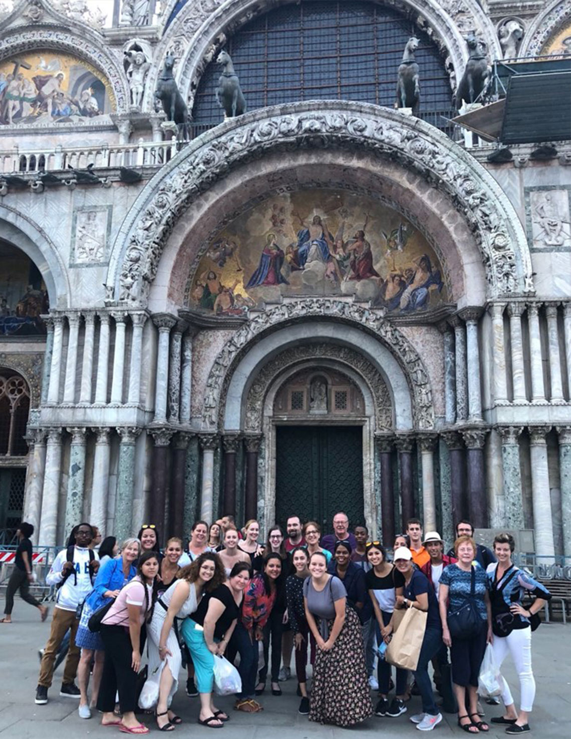 Paige with Timber Creek High School Choir in Italy.