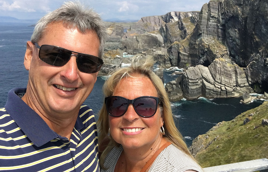 Greg and his wife, Kelly, enjoy a day of exploration at Mizen Head; Ireland's most-Southwesterly point.