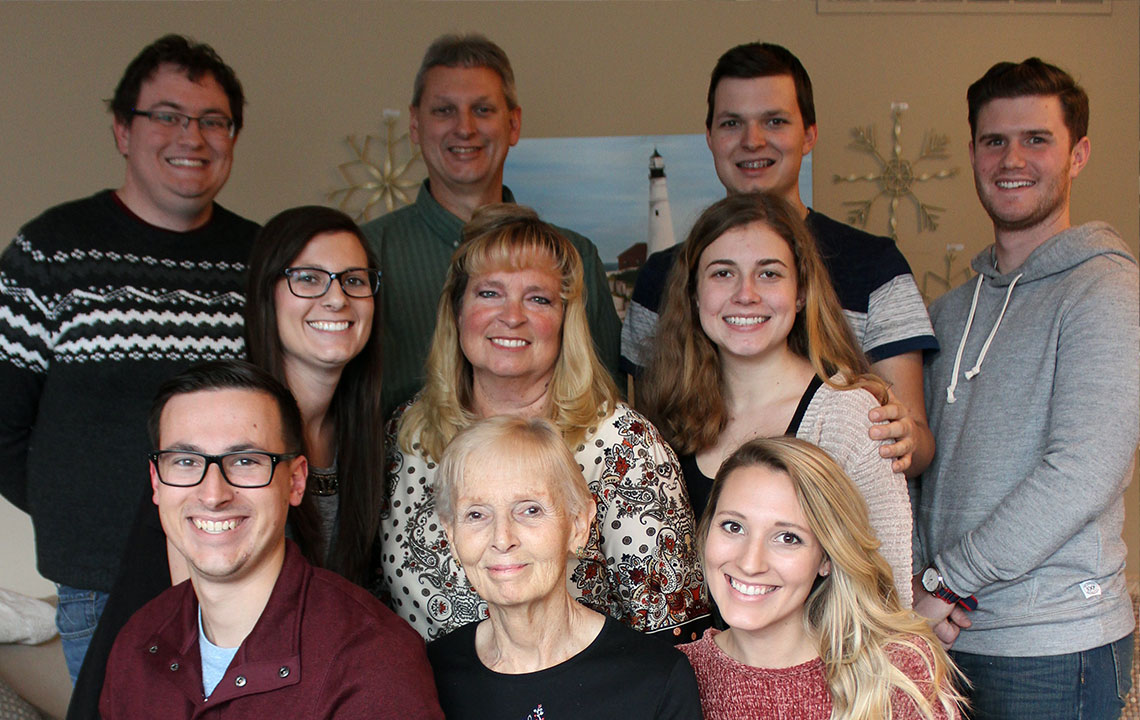 The Moore Clan gathers for the Christmas holiday.