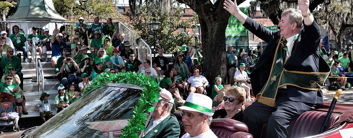 A glimpse at the Saint Patrick's Day Parade Grand Marshal.