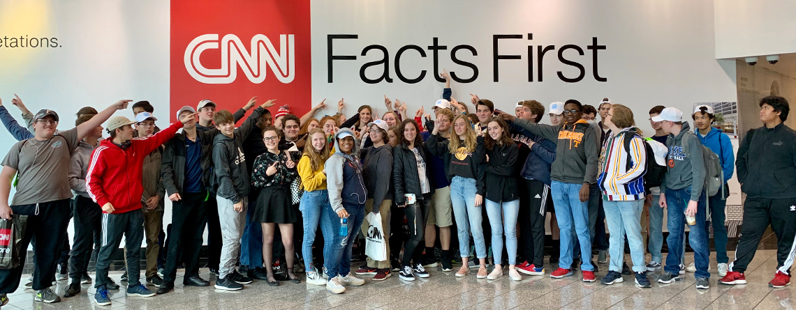 "West High School Band advocates ""Facts First"" at CNN!"