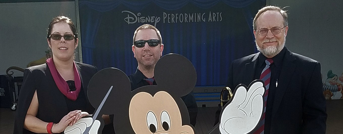 Amy Hoxie, Dave DeSiro, and Gregg Norris at Disney.