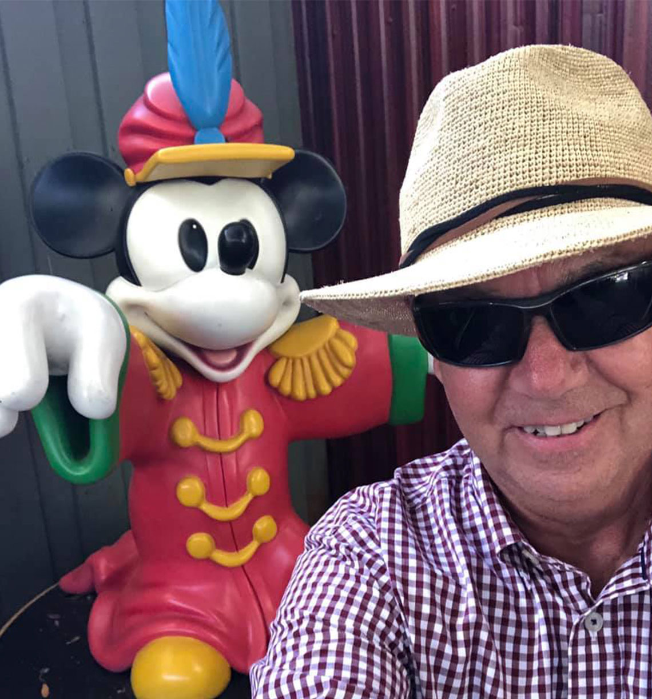 Bob with his buddy Mickey.