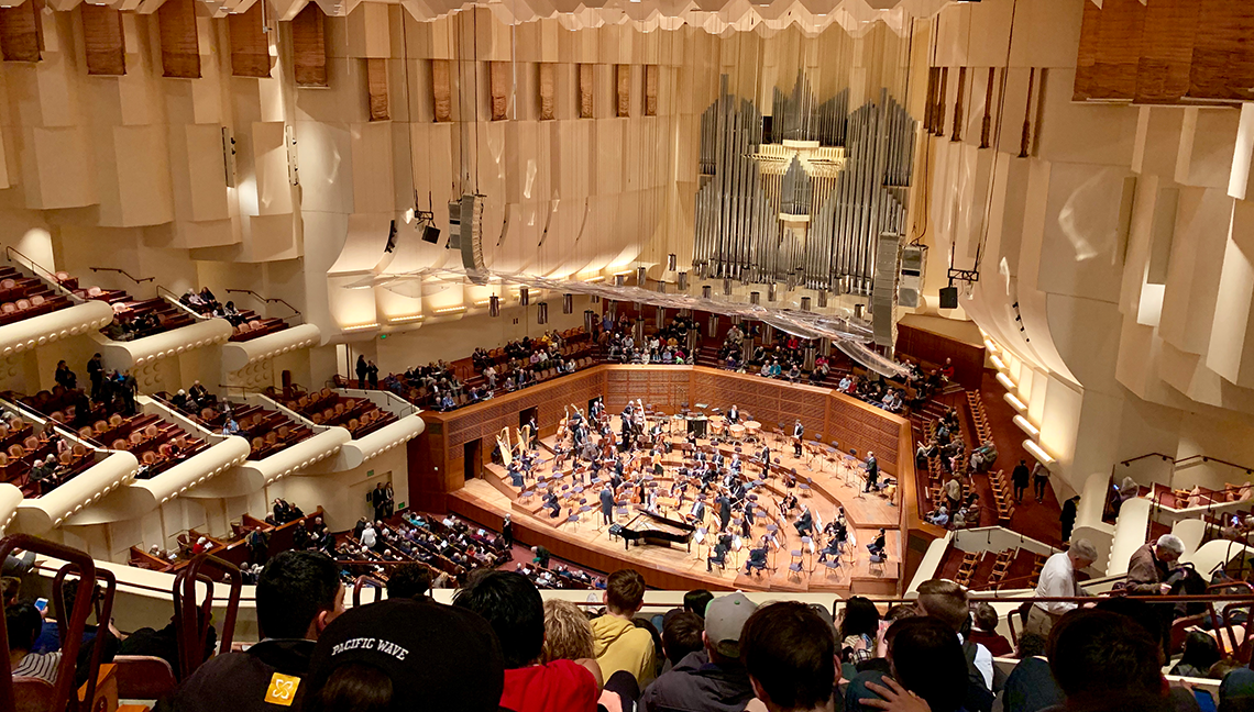 The stunning San Francisco Symphony Hall -- a beautiful venue for beautiful music.