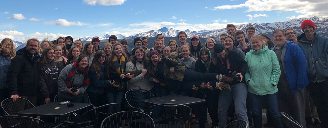 College of the Ozarks Choir in Denali National Park.