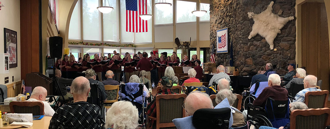 College of the Ozarks Choir performing at the Alaska Veterans and Pioneers Home.