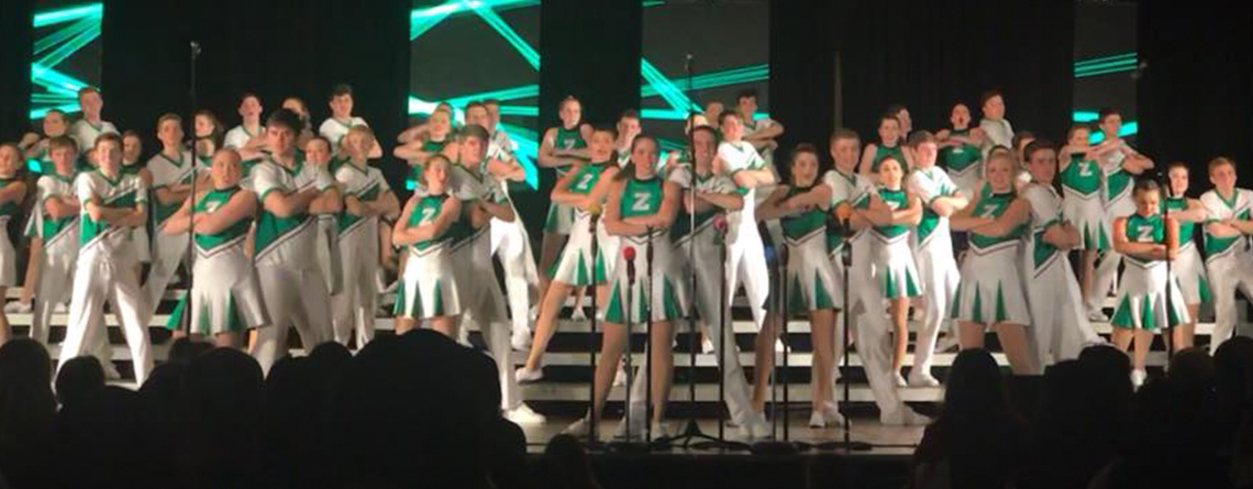 The Zionsville HS (IN) Royalaires perform at a past Heart of America Show Choir competition in Kansas City, MO.