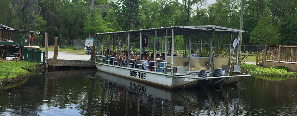 Gators and turtles and nutria...oh my!  EHS students enjoyed an educational and fun boat trip through the swamp.