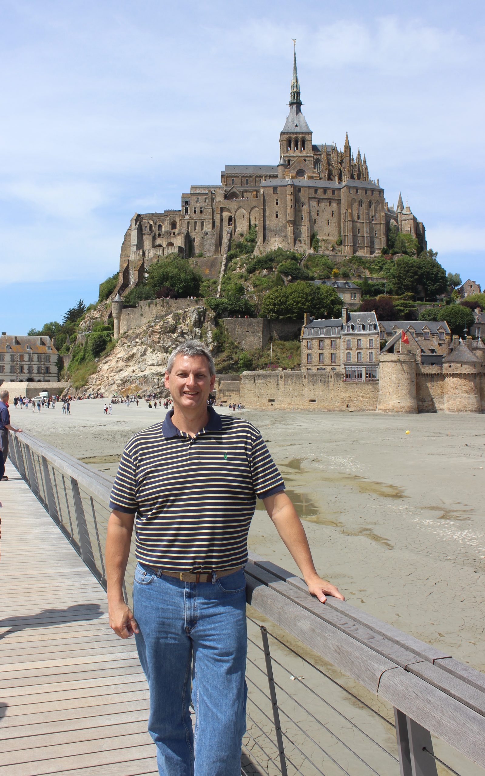 A 2015 France Site visit takes Greg to the historic Benedictine abbey of Mont-Saint-Michel, an UNESCO World Heritage site dating back to the 8th century.