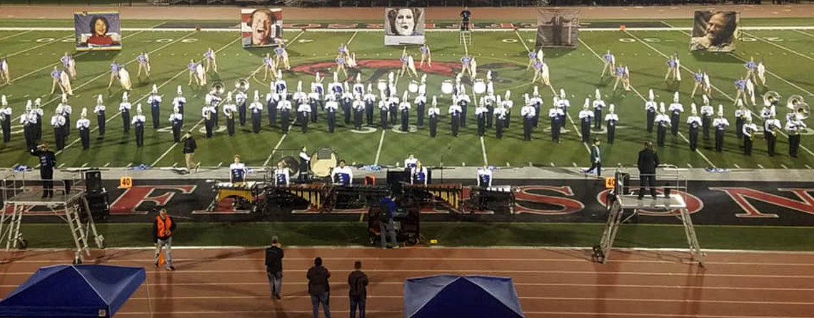 The Elkhart Central High School Blazer Brigade performs their show titled One of a Kind. The band is under the directions of David Elliott.