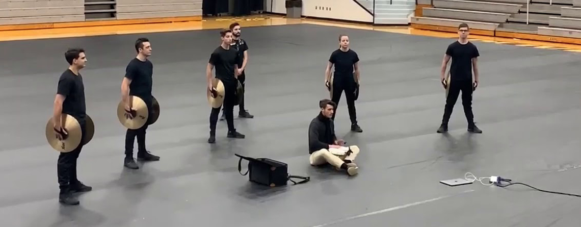 Crashy Bongo gained much attention after the one-time-only performance at the WGI Chicago Regional. An equipment truck issue made the group improvise during the WGI Chicago Regional Prelims.