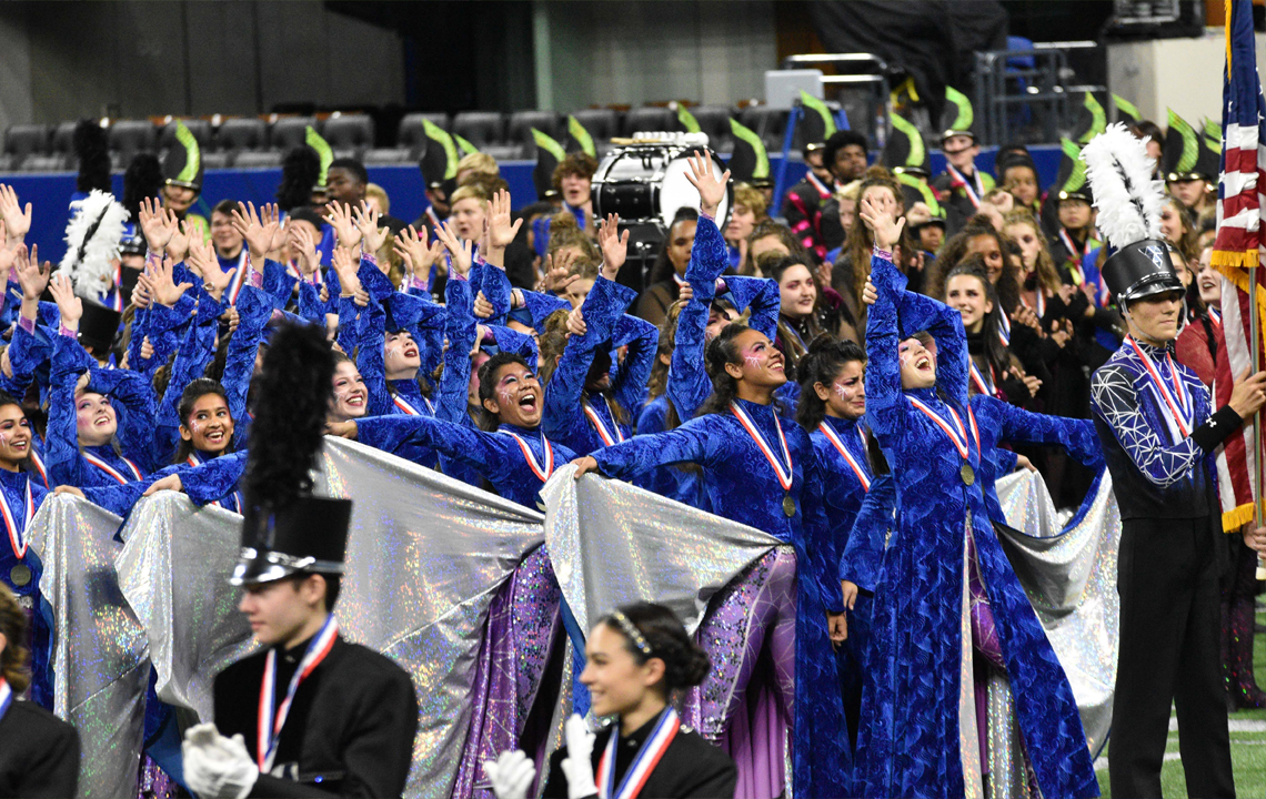 2019 BOA Grand National Champions – Vandegrift Marching Band and Vision Dance Company.