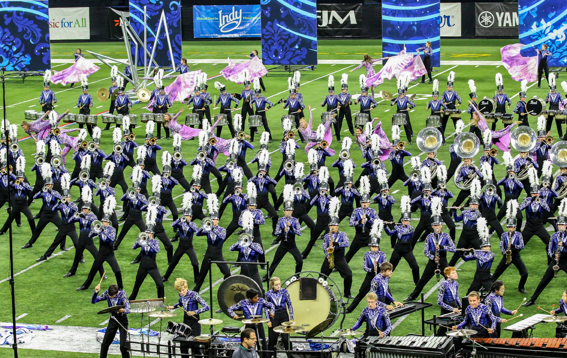 The Vandegift HS Marching Band present their program Aria – Queen of the Night during preliminaries at BOA Grand Nationals. The band went on to capture the National Championship in 2019.