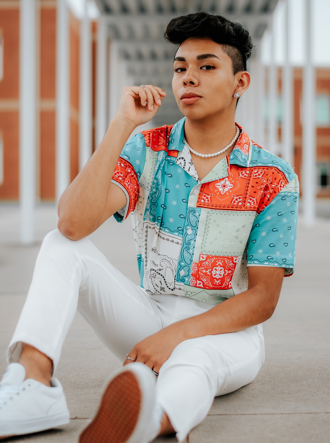 Isaac Peña served as the media captain at Easley for the 2020-21 school year