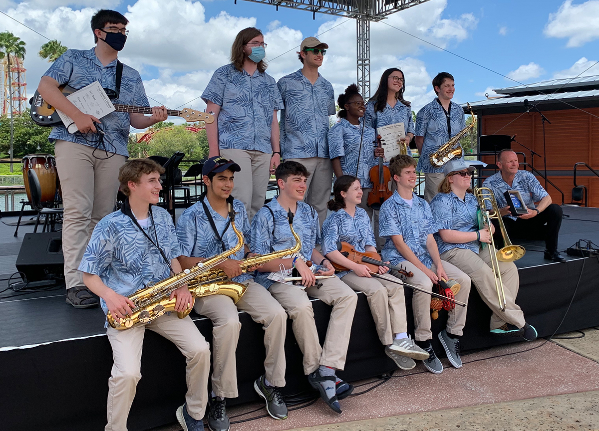 Cathedral Jazz Band performed as part of the STARS Program at Universal Studios