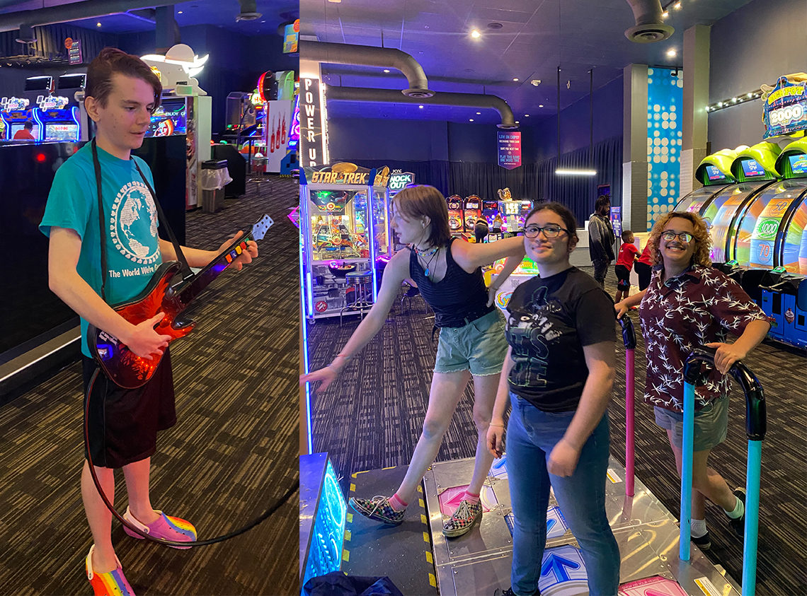 Taylor HS band members enjoy dinner, games and free time at Dave & Busters