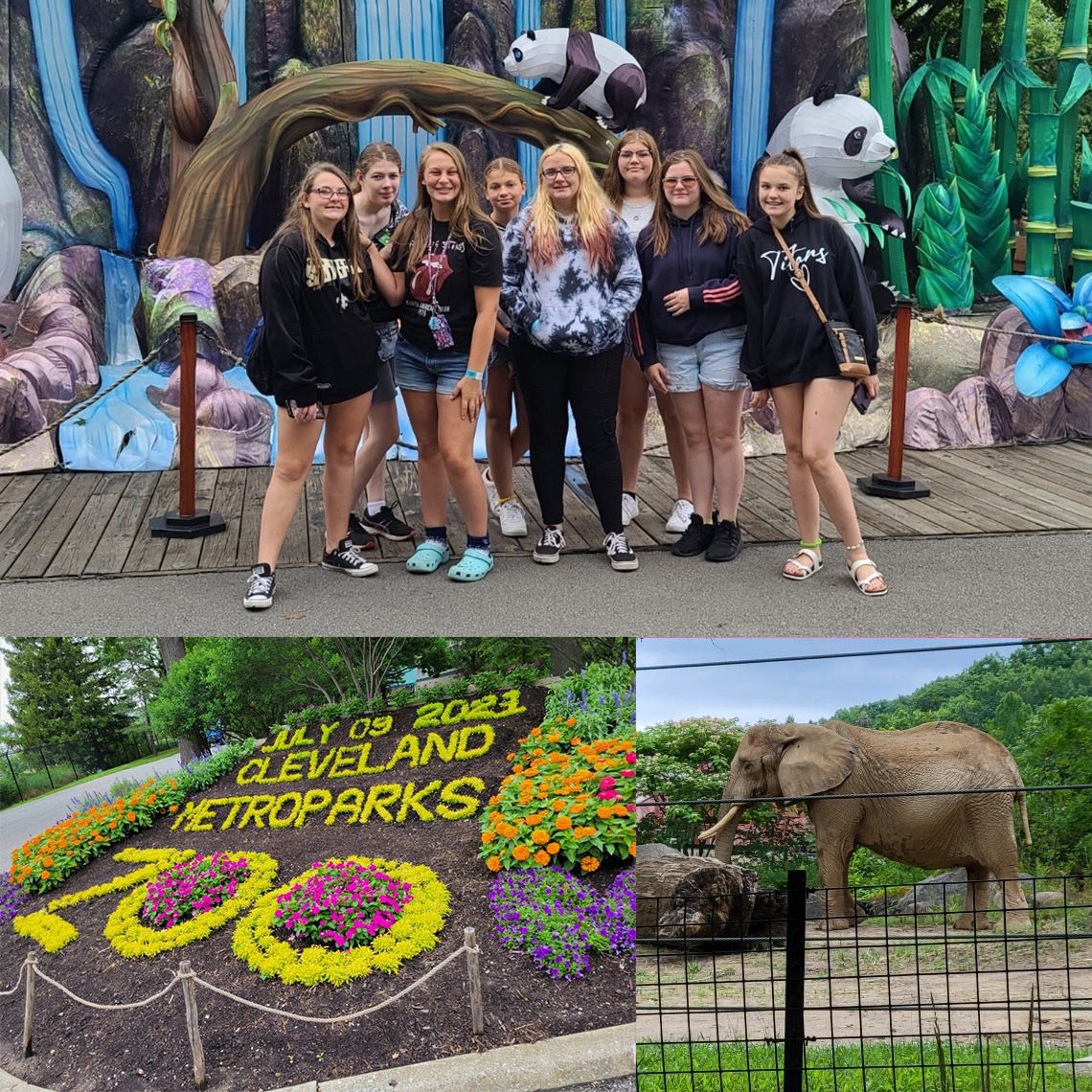 he Cleveland Zoo offers many sights for the students to enjoy