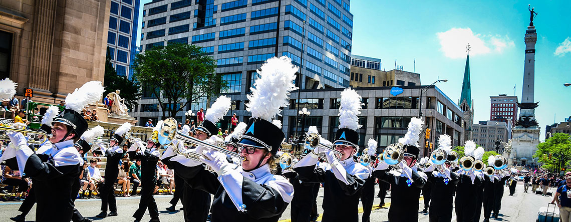 Perform in the Indianapolis 500 Festival Parade and Race with Music Travel Consultants