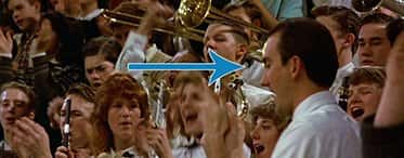 Who is the Band Director in the movie Hoosiers