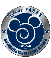 Disney Recognized Youth Travel Planner logo.