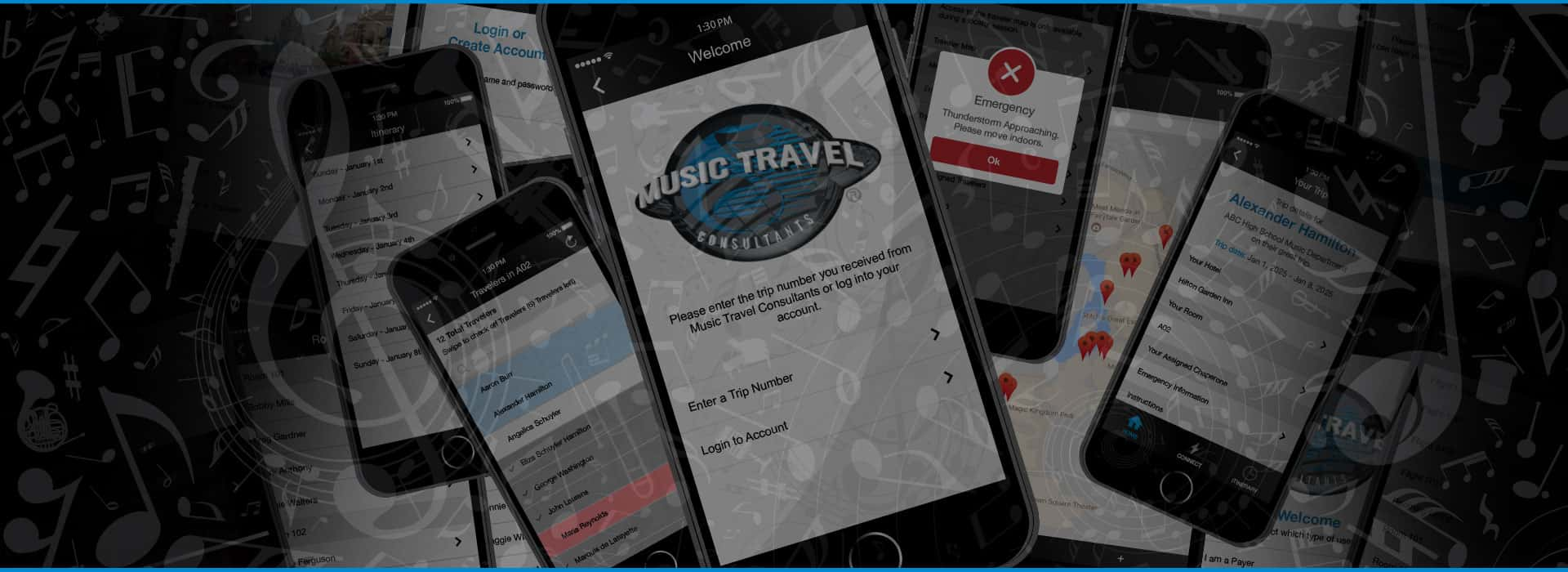Music Travel App Preview