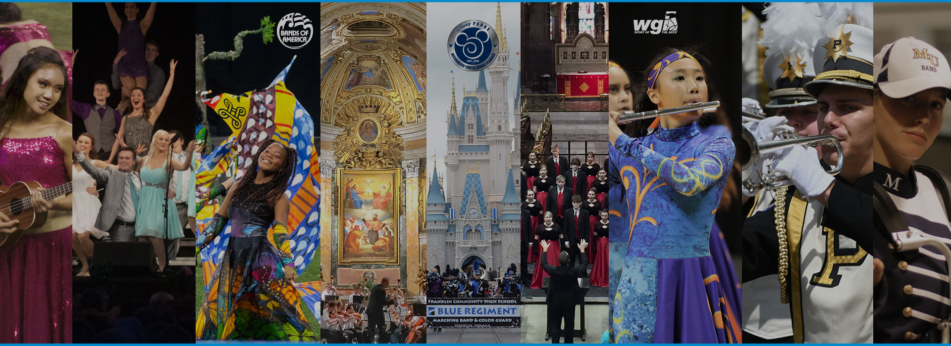 Travel planner for the finest bands, choirs and orchestras in the world.