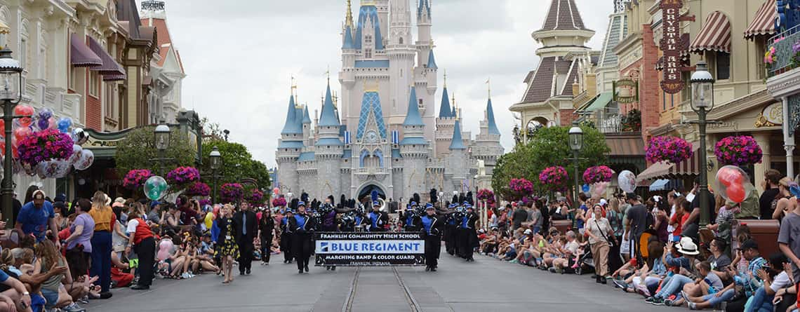 Music Travel Consultants has many performance opportunities in Walt Disney World.